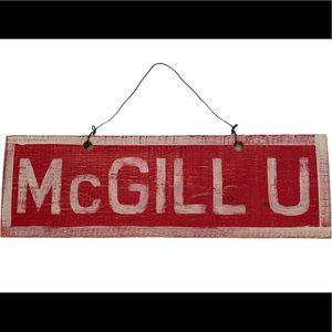 McGill University brandy Melville wood home art